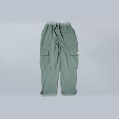 Second view of Dime Cargo Sweatpants Green