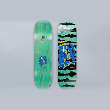 Polar 7.875 Oskar Rozenburg Dragon Sunset Skateboard Deck Blue