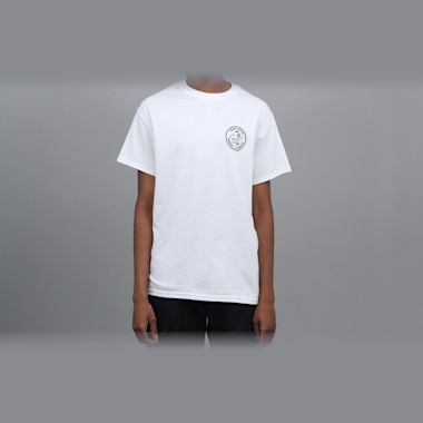 Second view of Blast Skates Round Logo T-Shirt White