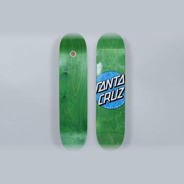 Santa Cruz 7.5 Hand Fill Dot Skateboard Deck Green