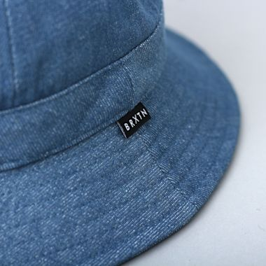 Second view of Brixton Banks II Bucket Hat Blue Washed Denim
