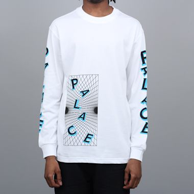 Palace Griddle Longsleeve T-Shirt White