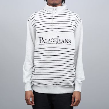Palace PJ Popper Neck Crew Grey Marl