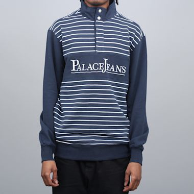 Palace PJ Popper Neck Crew Navy