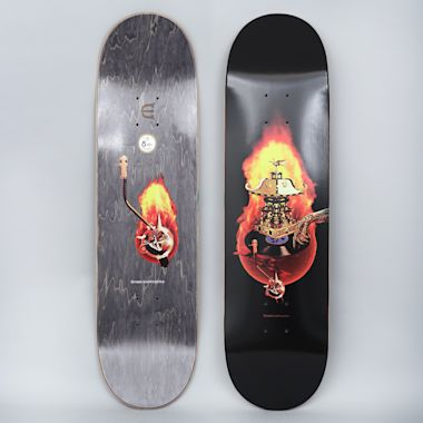 Evisen 8.25 Spin Fire Skateboard Deck Black