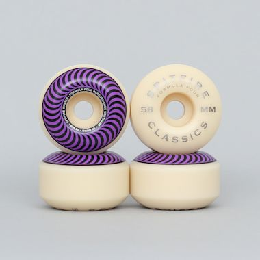 Spitfire 58mm 99DU Formula Four Classics Wheels Natural / Purple