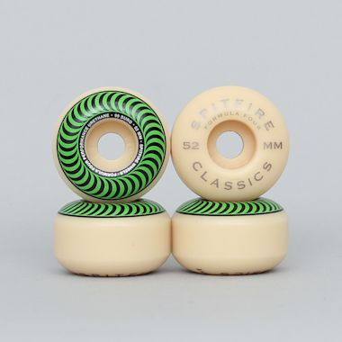 Spitfire 52mm 99DU Formula Four Classics Wheels Natural / Green