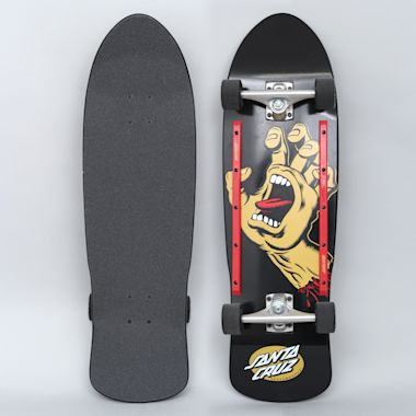 Santa Cruz 9.42 Screaming Hand Complete Skateboard Cruiser 80's Black