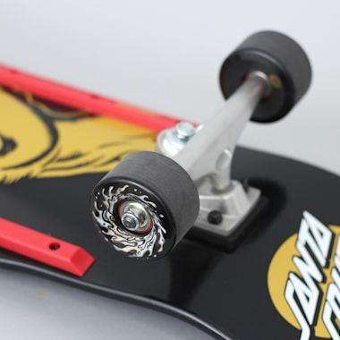 Second view of Santa Cruz 9.42 Screaming Hand Complete Skateboard Cruiser 80's Black