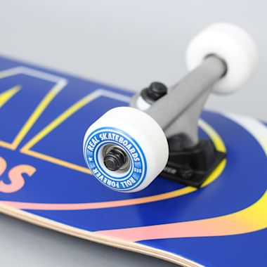 Second view of Real 8 Team Oval Gleams Large Complete Skateboard Blue