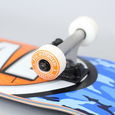 Second view of Real 7.38 Awol Ovals Mini Complete Skateboard Blue / Orange