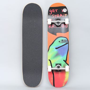 Krooked 7.75 Shmoo Tie Dye Medium Complete Skateboard