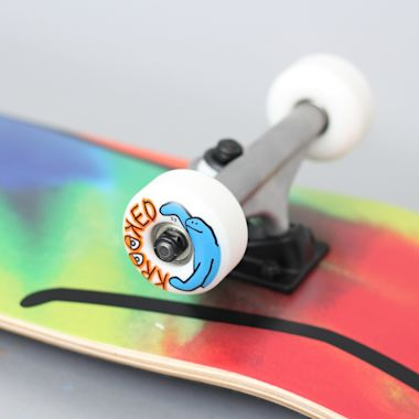 Second view of Krooked 7.75 Shmoo Tie Dye Medium Complete Skateboard