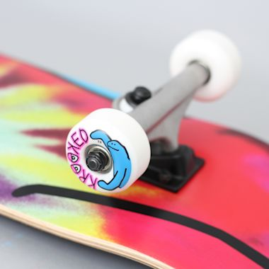 Second view of Krooked 8 Shmoo Tie Dye Large Complete Skateboard