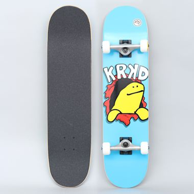 Krooked 7.75 Shmoo Face First Medium Complete Skateboard Blue