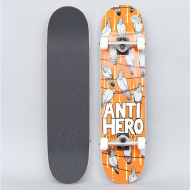 Anti Hero 7.75 On A Wire Medium Complete Skateboard Orange