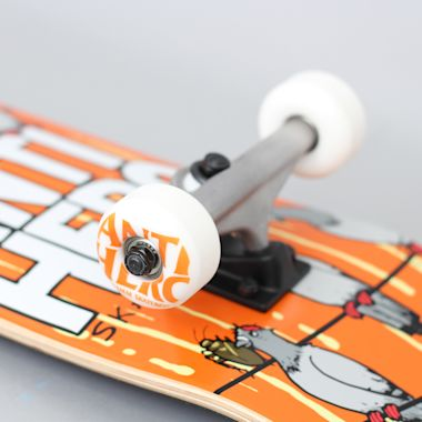Second view of Anti Hero 7.75 On A Wire Medium Complete Skateboard Orange
