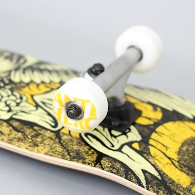 Second view of Anti Hero 7.75 Hesh Eagle Medium Complete Skateboard Yellow