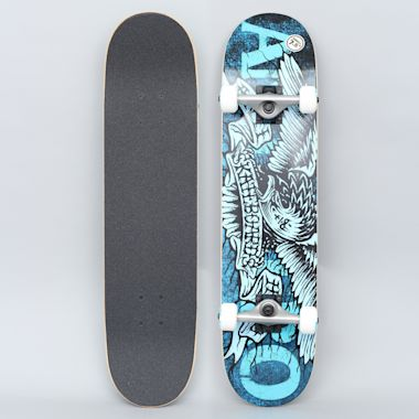 Anti Hero 7.5 Hesh Eagle Small Complete Skateboard Blue