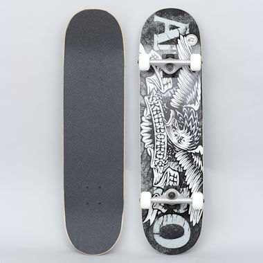 Anti Hero 8 Hesh Eagle Large Complete Skateboard Black
