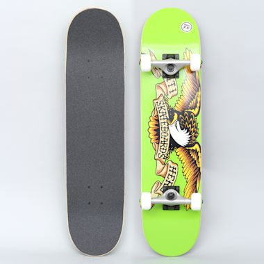 Anti Hero 7.5 Team Eagle Small Complete Skateboard Green