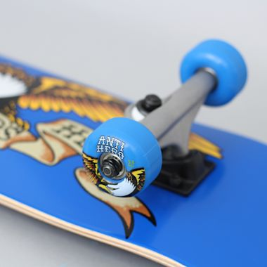 Second view of Anti Hero 7.38 Team Eagle Mini Complete Skateboard Blue