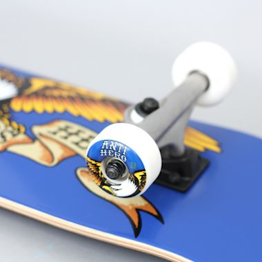 Second view of Anti Hero 7.75 Team Eagle Medium Complete Skateboard Blue