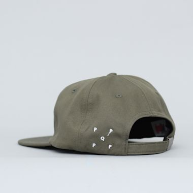 Second view of Pop Trading Arch 6 Panel Cap Olive