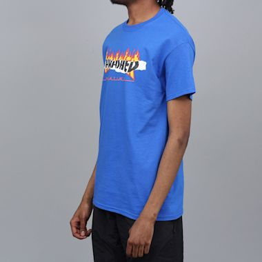 Second view of Thrasher Ripped T-Shirt Royal Blue