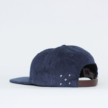 Second view of Pop Trading Bruna 6 Panel Cap Navy Cord