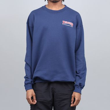 Thrasher Outlined Crew Navy