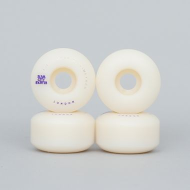Slam City 54mm 101A London Skateboard Wheels White