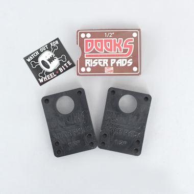 Shorty's Dooks 1/2 Riser Pads Black