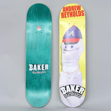 Baker 7.875 Andrew Reynolds Sock Puppet Skateboard Deck Yellow