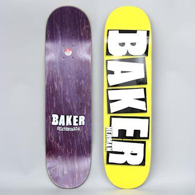 Baker 8.38 Brian Herman Brand Logo Skateboard Deck Neon Yellow