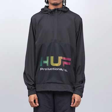 HUF Productions Inc Anorak Black