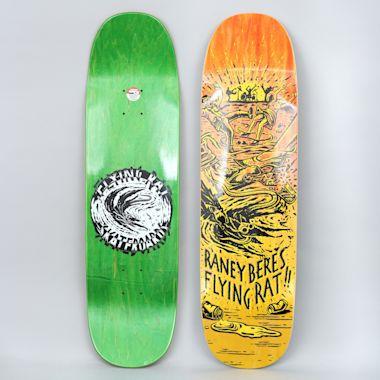 Anti Hero 8.63 Beres Flying Rat II Skateboard Deck Yellow