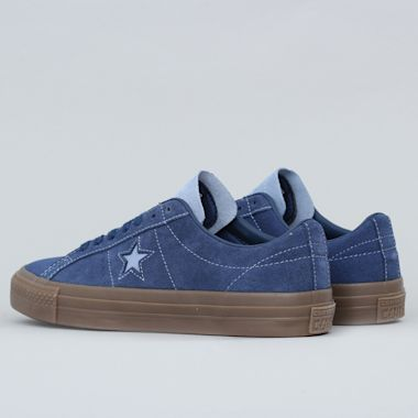 Second view of Converse One Star Pro OX Shoes Navy / Indigo Fog / Brown
