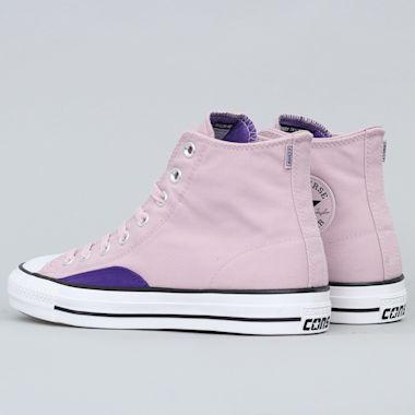 Second view of Converse CTAS Pro OP Hi Shoes Plum Chalk / Court Purple / White