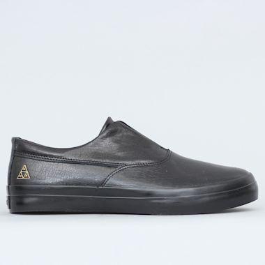 HUF Dylan Slip On Shoes Black / Black Leather