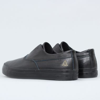 Second view of HUF Dylan Slip On Shoes Black / Black Leather
