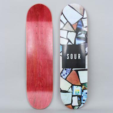Sour 8.18 White Mosaic Skateboard Deck