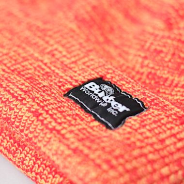 Second view of Butter Goods Everest Beanie Orange