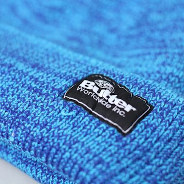 Second view of Butter Goods Everest Beanie Blue