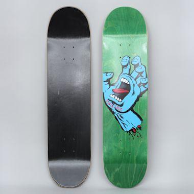 Santa Cruz 7.75 Screaming Hand HRM Skateboard Deck Green