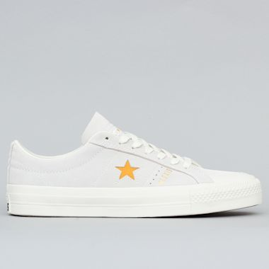 Converse Alexis Sablone One Star Pro Low Top Shoes White / Coast / University Gold