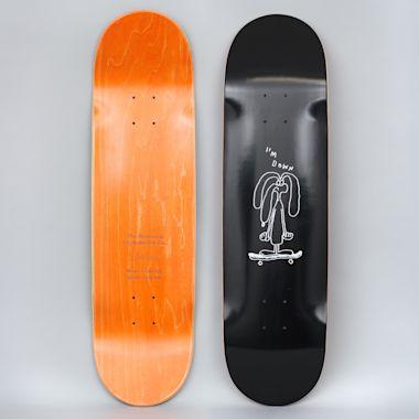The National 8.5 I'm Down Skateboard Deck Black