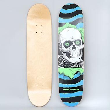 Powell Peralta 7.75 One Off Ripper PP Skateboard Deck Blue / Green