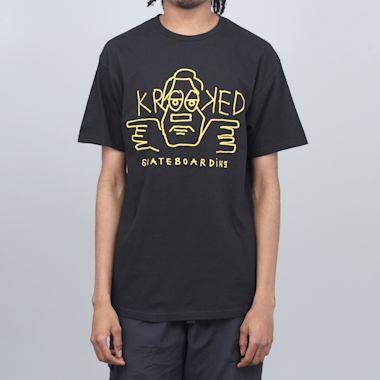 Krooked Dude T-Shirt Black / Orange-ish