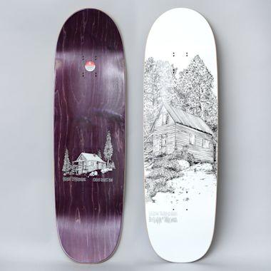 Heroin 9.25 Deer Man Cabin Series 2 Skateboard Deck White